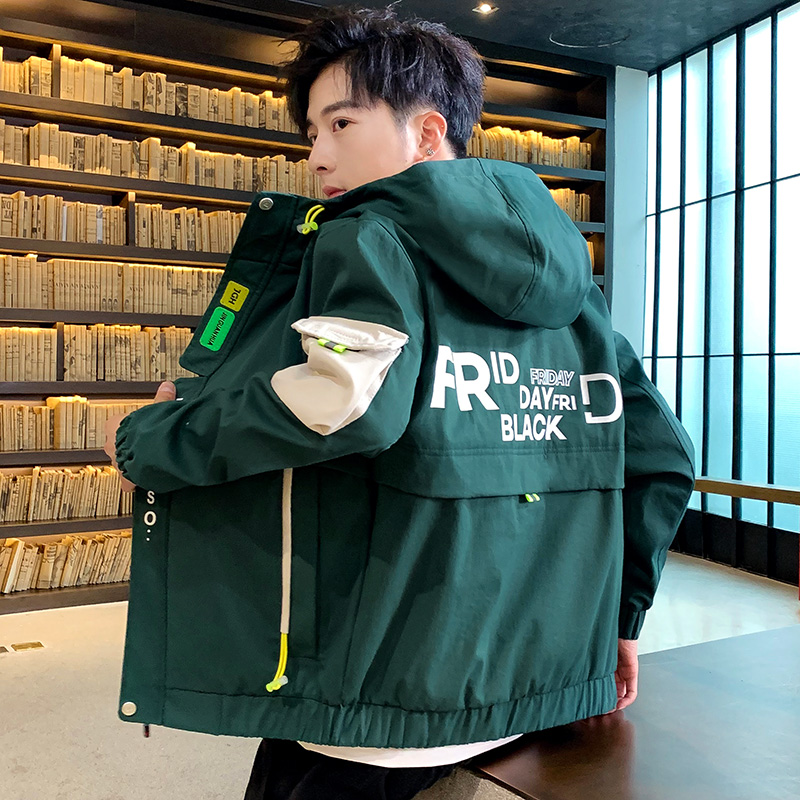 Coat Men Outerwear Men's Jacket Spring Autumn 2020 New Arrival South Korean Fashion Trend Instagram Overalls Casual Jacket Male