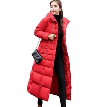2020 winter new cotton coat long over-the-knee slim thick quilted jacket large fur collar down jacket hcbless womens parka cotton coat long section over the knee thick warm slim slim down cotton women s large size winter coat