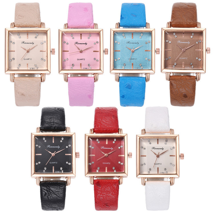 Fashion Belt Series Bracelet Watch Exquisite Multicolor Square Diamond Watches Joker Lady Wrist Watch