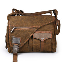 Ruil Men Canvas Multifunction Crossbody Bag Retro Handbags Travel Wear Resistance Shoulder Messenger Bags Leisure Package