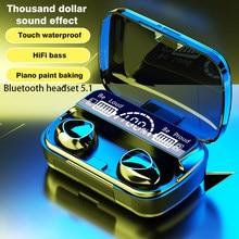 TWS Drahtlose Kopfhörer Bluetooth V 5,1 Kopfhörer 9D Stereo Sport Earbuds Wasserdicht Headsets 2000mAh Lade Box PK F9 M11