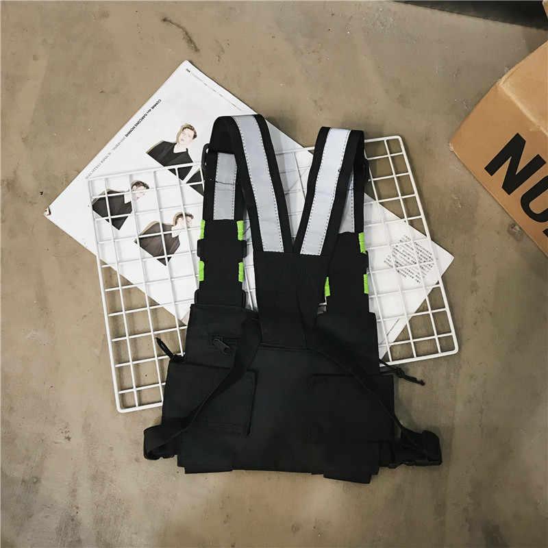 Novo Saco de Peito Para Homens Função Rig Peito Colete Tático Saco Ocasional Sacos Pacote de Cintura Masculino Kanye Streetwear Para O Menino moda casual