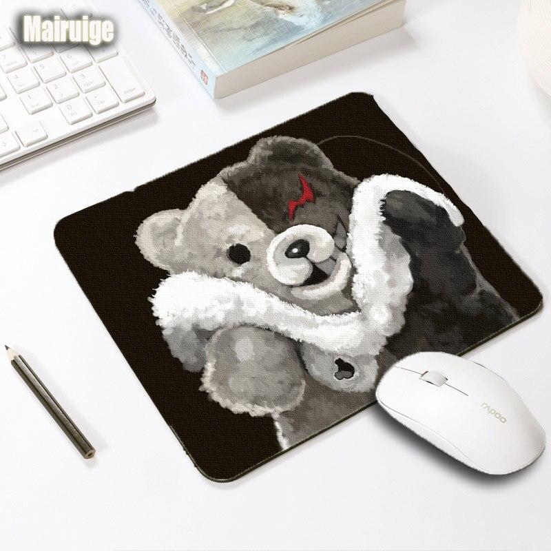 Mairuige Creative Diy Mouse Pad Danganronpa Monokuma Mousepad 250x290x2MM Anime Game Pad Washable Anti-skid Rubber Table Mats