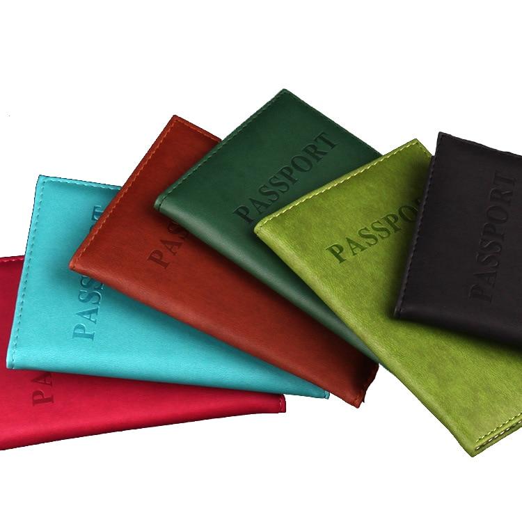 Zoukane 2019 Fashion Simple Solid Passport Cover PU Leather Passport Holder Case Wallet Travel Accessories ZSPC10