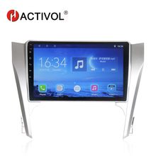 HACTIVOL 10.1 Quadcore 2 DIN car radio gps navigation for Toyota Camry 2012-2014 android 7.0 car DVD player with 1G RAM 16G ROM hactivol 2 din car radio face plate frame for toyota camry 2012 car dvd player gps navi panel dash mount kit car accessories