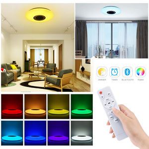 Image 4 - Smart LED Ceiling Lights RGB Dimmable 36W APP Remote Control Bluetooth Music Star Light Bedroom Diamond Shine Ceiling Lamp