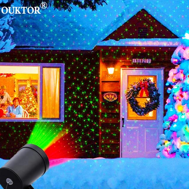 야외 스카이 스타 레이저 프로젝터 무대 스포트 라이트 샤워 크리스마스 DJ 디스코 R & G 정원 풍경 장식 잔디 무대 조명