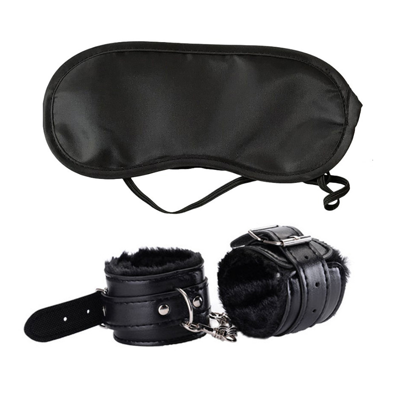 Sex BDSM Bondage Set Toys With Handcuffs For Sex Blindfold Eye Mask Adult Games Erotic Toys For Woman Exotic Accessories