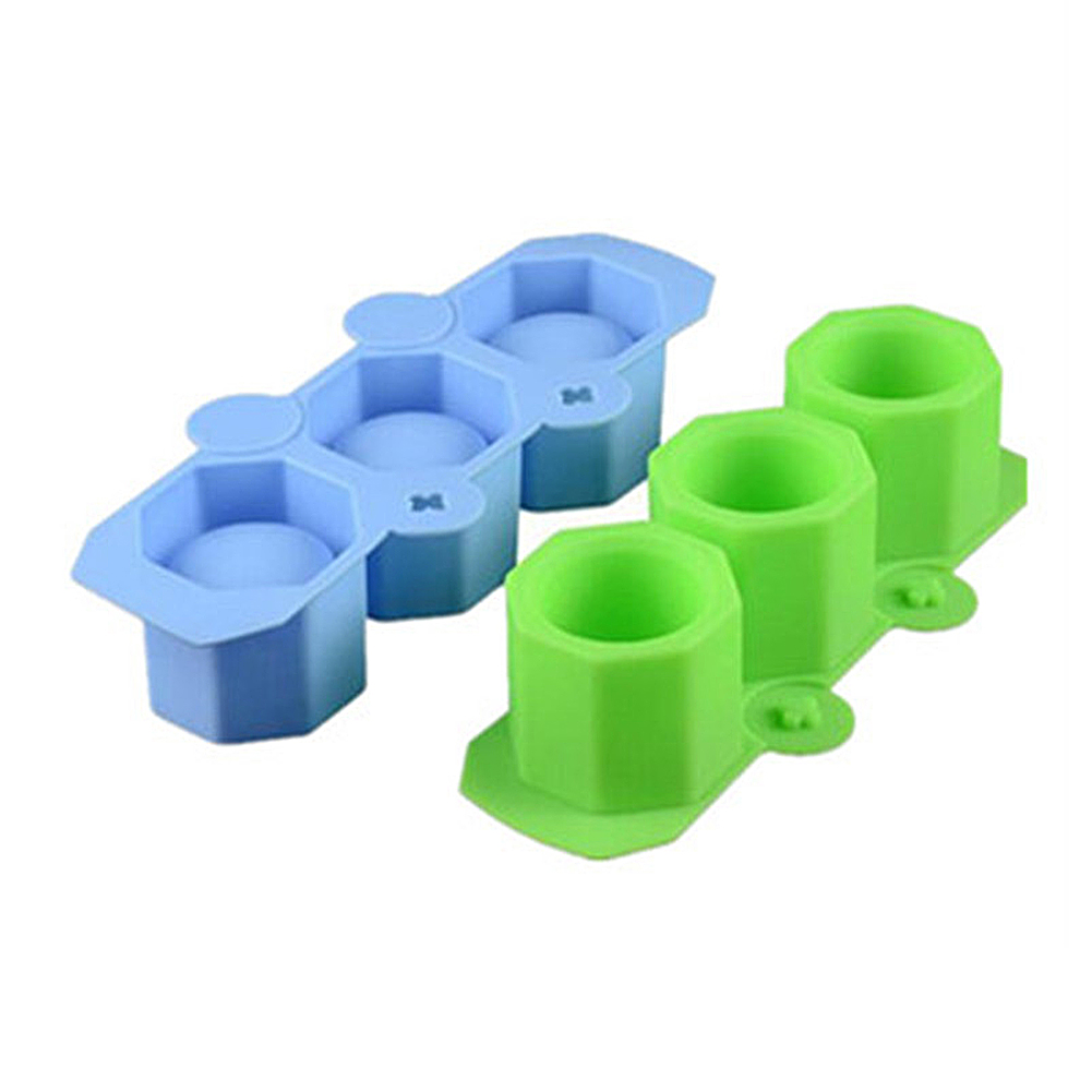 EE/_ DIY OCTAGONAL SILICONE MOLD FLOWER POT CAKE MOULD CLAY ICE CUBE TRAY TOOL NI