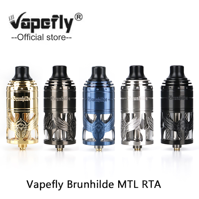 Original Vapefly Brunhilde MTL RTA Tank 5ml Capacity Atomizer With 23mm Single Coil Vape Vaporizer Vs Zeus X