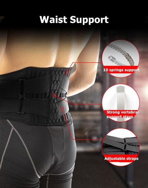Lumbar Waist Support Belt Strong Lower Back Brace Support Corset Belt Waist Trainer Sweat Slim Belt for Sports Pain Relief New 1