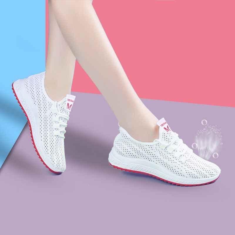 Mùa Xuân Năm 2019 Nữ Giày Chắc Chắn Mới Chun Giày Cho Nữ Vulcanize Giày Thời Trang Bố Giày Nền Tảng Giày Femme