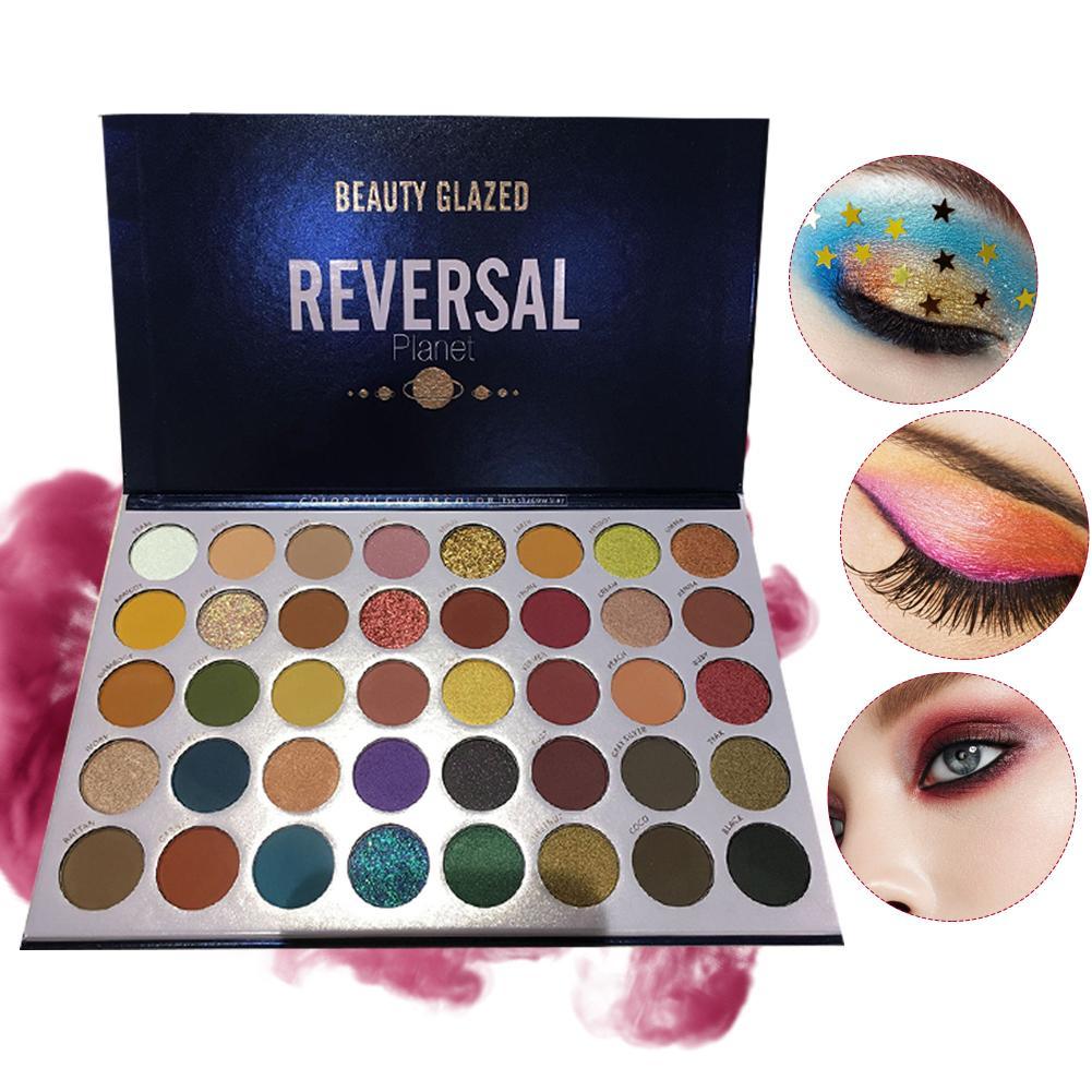 40 color glitter fosco paleta de sombra shimmer arco iris alta pigmento maquiagem paleta natal presente