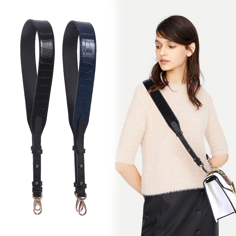 New Arrival Crocodile Pattern Handbag Strap Eplacement Interchangeable Shoulder Strap With Swivel Hook For Crossbody Purse Bags