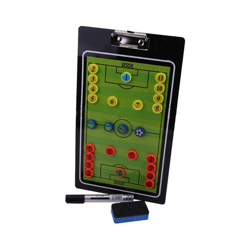 Football Coach Tactics Research Clipboard Magnetic Folder Coaching PVC Board
