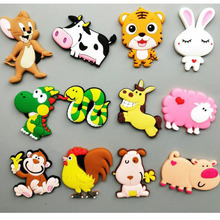 Magnet-Stickers Fridge Cock Tiger Animals Dragon Horse-Ram 12-Zodiac Chinese Rabbit Snake