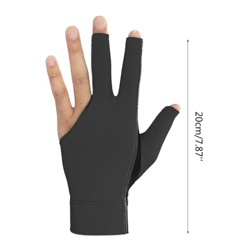 2020 neue 1pc Billard Drei Finger Handschuhe Lycra Anti Skid Snooker Handschuh <font><b>Pool</b></font> Links Hand image