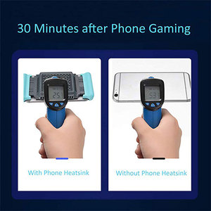 Image 4 - Mobile Phone Cooler Handheld Radiator Grip Support PUBG Phone Cooling Fan Holder Heatsink Stand For Gaming Live Broadcast