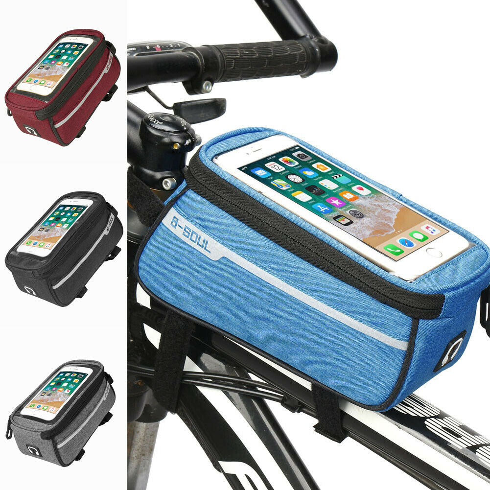 Ravel Accessories Cycling Frame Pannier Front Tube Bag For Cell Phone Bike Touch Screen Rainproof