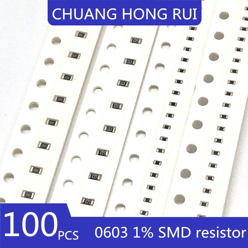 100 шт. 0603 SMD резистор 100 k Ω RC0603FR (1003) плюс/минус 1% 100 k - 07100 kl (100)