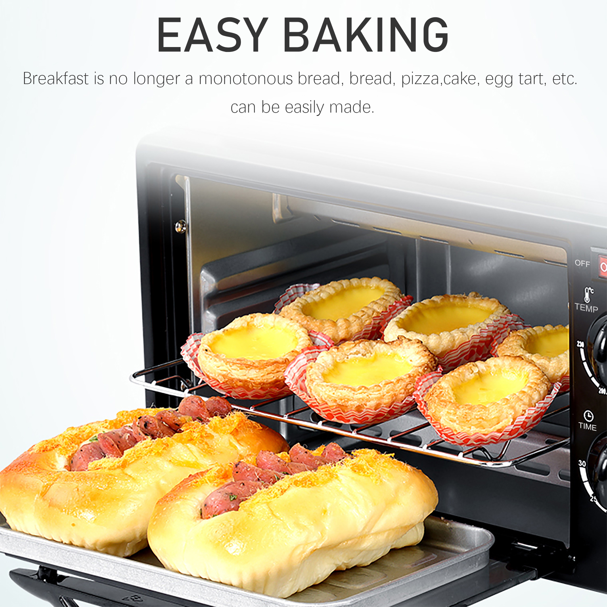 Electric Oven 3 In 1 Breakfast Making Machine Multifunction Drip Coffee Maker Household Bread Pizza Frying Pan Toaster Sonifer