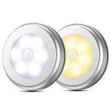 LED Runde Sensor Lichter Wand treppen Nacht Lampe PIR Motion Sensor Induktion Schrank licht für unter schrank schlafzimmer küche Lampe