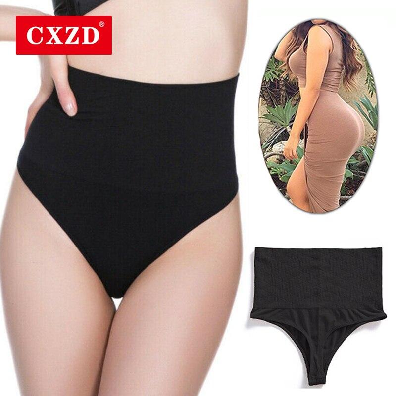 CXZD  Women Body Shaper Thong Highwaisted Waist Cincher Girdles Shapewear Panties Briefs