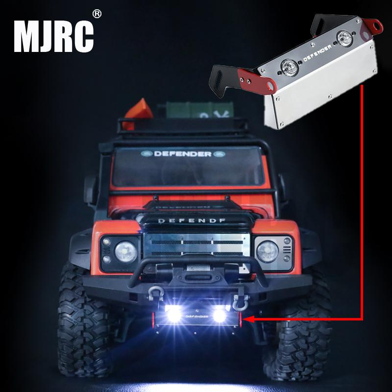 TRAXXAS TRX-4 Defender TRX4 Bronco Front Bumper Metal Protection Plate Chassis Armor Lamp For 1/10 RC Simulation Climbing Car