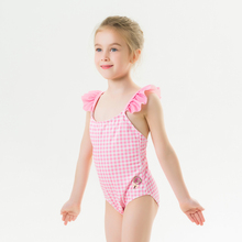 Children #8217 s Swimwear Summer New Swimwear Girls Children #8217 s Straps Cute Printed Swimwear One-piece Swimsuit cheap YCDKK Polyester Plaid Fits smaller than usual Please check this store s sizing info 82019