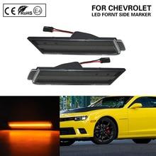 цена на FOR CHEVY CAMARO 2010-2015 LED front side marker light smoke lens US Version