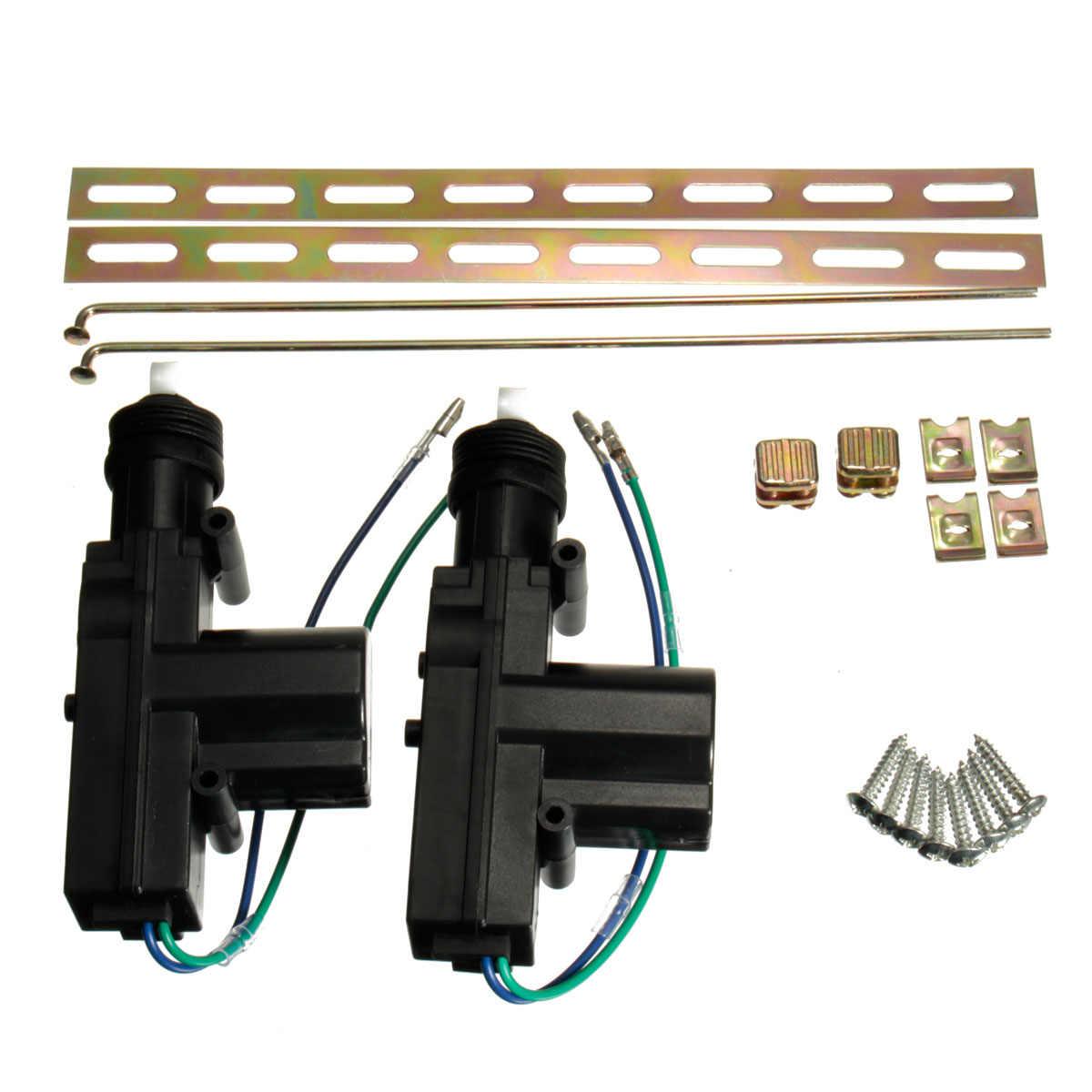Vodool 2pcs 12v 2 Wire Car Door Remote Central Lock Motor Actuator Kit Auto Vehicle Central Locking System Motor Gun Accessories Kit Kits Kit For Carkit Car Kit Aliexpress