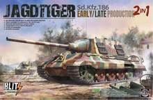 Nueva inclusión juguetes soldado modelos 1/35 tanques modelo regalo Jagdtiger tanque