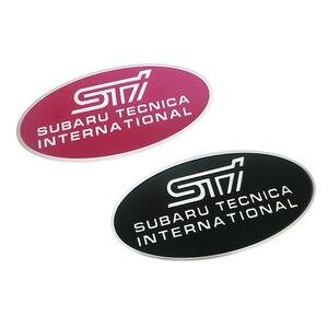 Pegatinas de aluminio con diseño de coche, con logotipo de STI en 3D, pegatina con emblema para SUBARU LEGACY Forester Outback Rally WRC WRX XV Impreza, accesorios