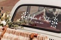 Pared Floral etiqueta coche decoración para decoración de pared para bodas casado coche etiqueta engomada de vinilo de la pared HJ560