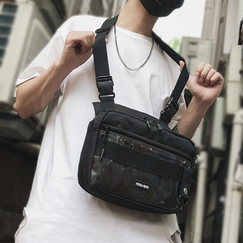 Tactical Streetwear Chest Bag Oxford Fanny Pack For Men Square Large SpaceWomen Fashion Waist Bags Crossbody Waist Packs G146