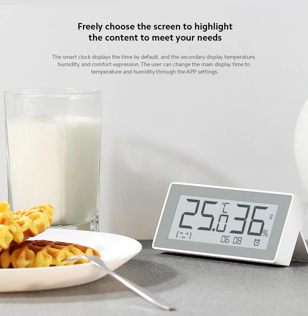 Original MiaoMiaoCe E-Link INK LCD Screen Digital clock Moisture Meter BT4.0 High-Precision Thermometer Temperature Humidity Sensor (7)