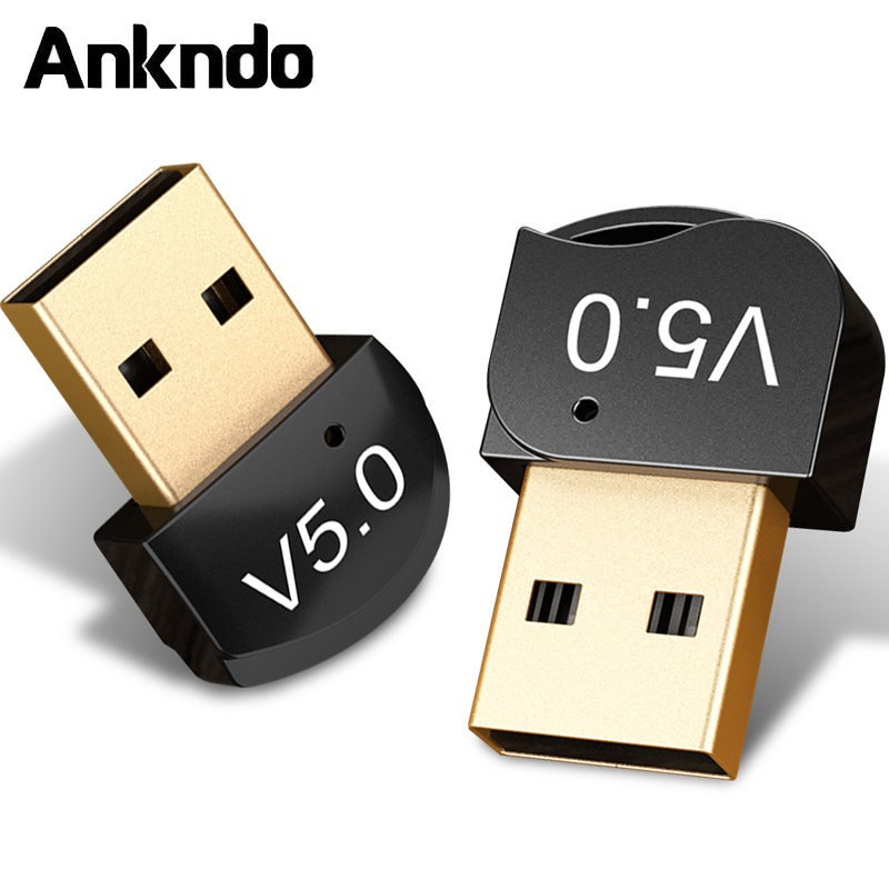 ANKNDO USB WIFI Adapter PC Tablet MP3 Music Bluwtooth Amplifier Reciver Wireless Mouse Keyboard Printer Bluetooth Adapter BT5.0