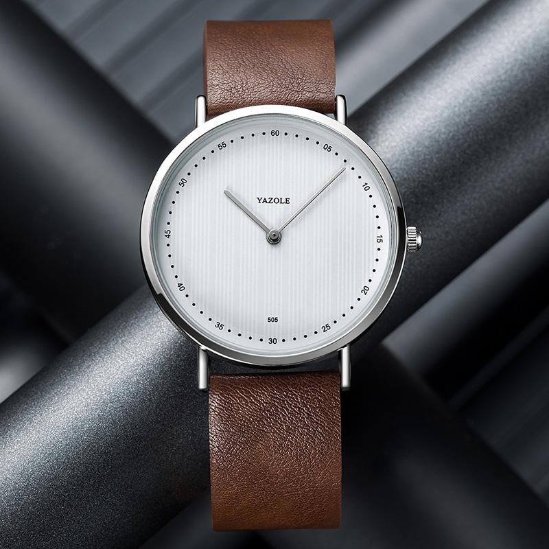 Yazole Watch Men Fashion Simple Waterproof Quartz Sports Clock Man Yazole Wristwatch New Leather Men Watches Reloj Hombre #Reloj
