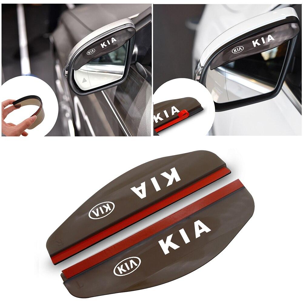 2 Pcs Mobil Sisi Belakang Cermin Hujan Alis Visor Terlihat Sun Shade Aksesoris Mobil untuk KIA RIO Jtsl Sportage cerato Jiwa Sorento title=