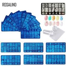 ROSALIND резиновый штамп для ногтей штамповки пластин штамп скребок с шапкой шаблон все для маникюра верхний гелевый штамп для дизайна ногтей