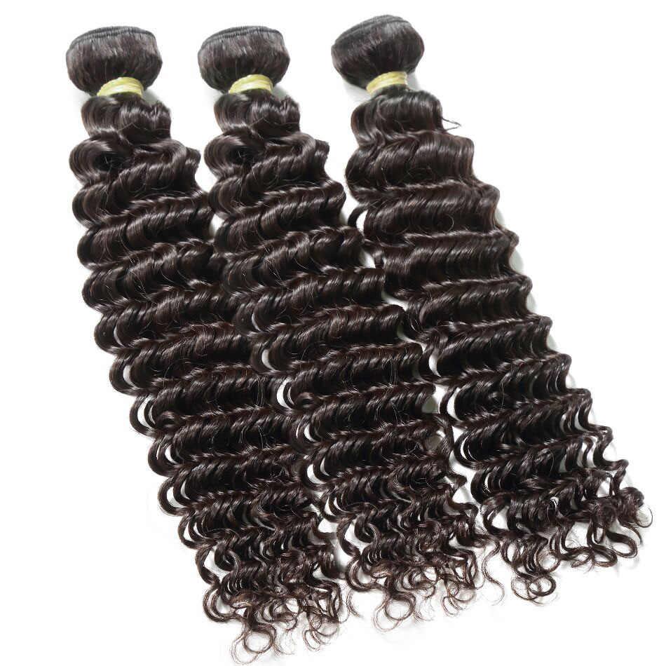 Pacotes de onda profunda com fechamento extensão do cabelo humano 30 40 polegada remy natural brasileiro tecer 3 4 pacotes para preto mulheres hd rendas