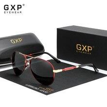 Gxp moda piloto de alumínio óculos de sol polarizados óculos de sol homem e mulher espelho lente fotocromática anti-reflexo de condução eyewear