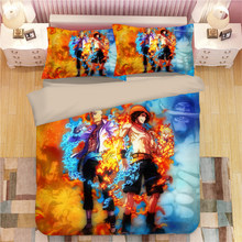 ONE PIECE Monkey D. Luffy Bedding Set Duvet Covers Pillowcases Vinsmoke Sanji Roronoa Zoro Comforter Bedding Sets Bed Linen(China)