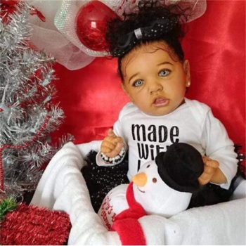 22 Inches Silicone Reborn Baby Toy Realistic Reborn Baby Doll Lifelike Newborn Doll Toys For Children Birthday Christmas Gift 17 inch lifelike reborn lovely baby doll laugh soft realistic reborn baby playing toys for kids christmas gifts bonecas