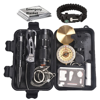 Survival kit Set Travel Multifunction First aid SOS EDC Camping Emergency Supplies Tactical for Wilderness outdoor tool wilderness first aid equipment case