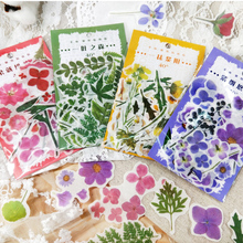 40 pcs/pack Flower Plant Series Bullet Journal Decorative Stickers Scrapbooking Stick Label Diary Stationery Album Stickers
