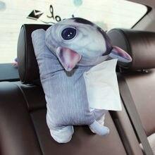 Cute cartoon pet dog Universal Car Armrest Box Tissue Box Creative Tissue Box Car Interior Products Car Accessories coche