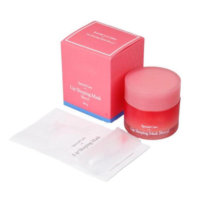 Dropshipping Special Care Lip Sleeping Mask Lip Balm Lipstick Moisturizing Anti-Aging Anti-Wrinkle Lip Care Cosmetic 20g image