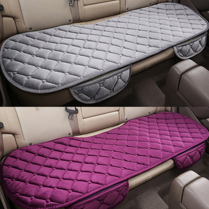 Image 2 - Car Seat Coves Protector Mat Auto Rear Seat Cushion Fit Most Vehicles Non slip Keep Warm Winter Plush Velvet Back Seat Pad
