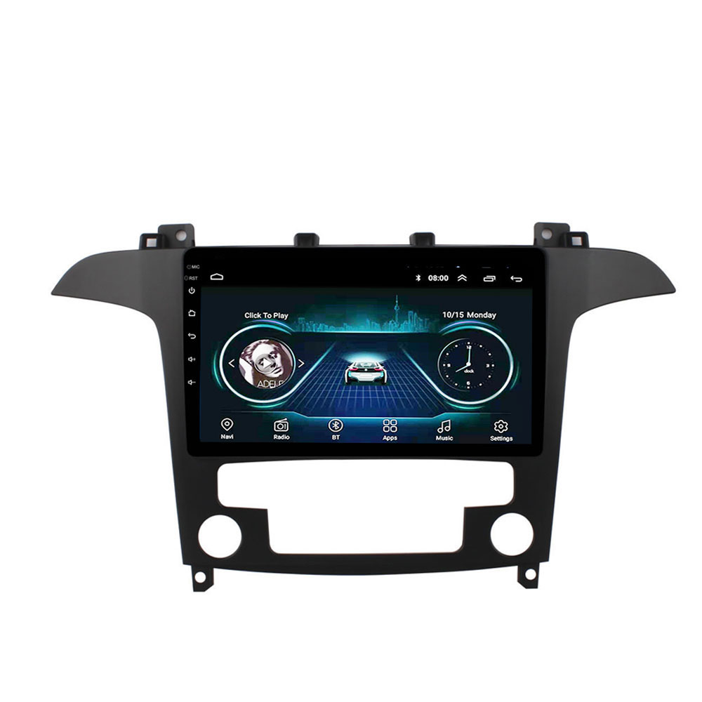 9 inch 2 din Car Multimedia Player Android 8.1 Wifi GPS Navigation For Ford S-Max S Max 2007-2015AT image